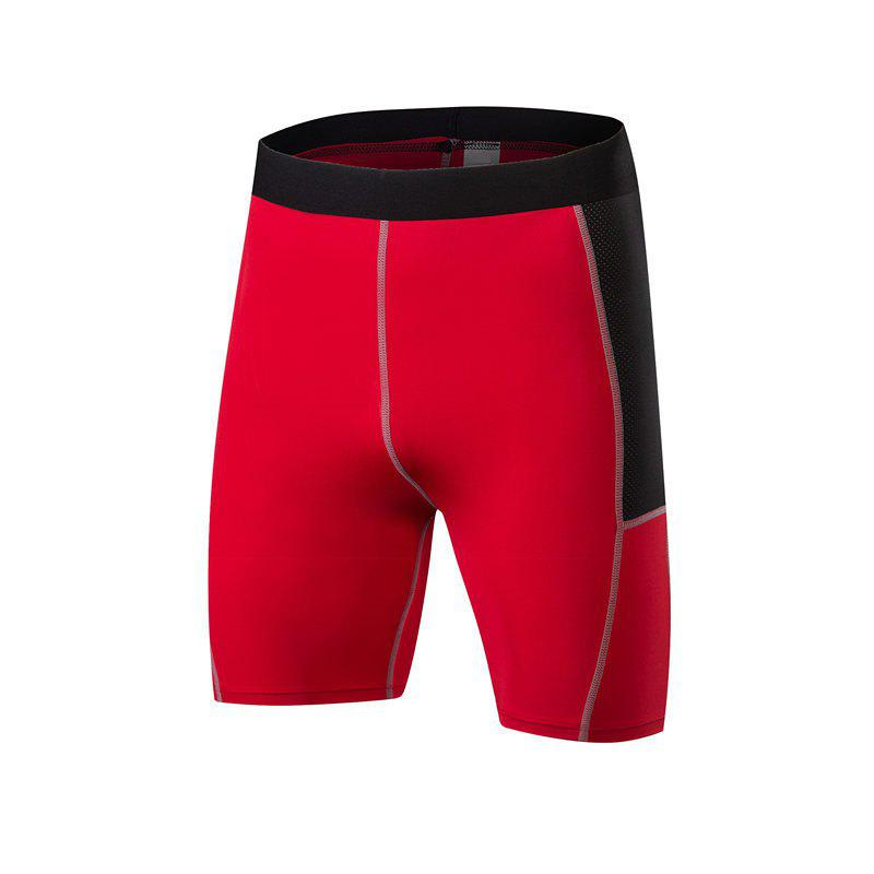 Shop Men PRO Sports Fitness Running Perspiration Quick Dry Shorts
