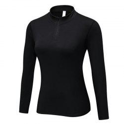 Women PRO Fitness Running Elastic Tight Stand Sweater -