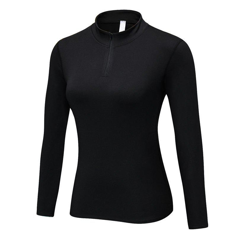 Best Women PRO Fitness Running Elastic Tight Stand Sweater
