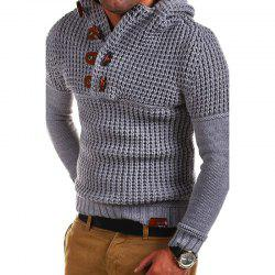 Men's High Quality Design Fashion Hooded Solid Color Sweater -