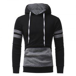 Personalized Patch Design Men's Casual Slim Hooded Pullover Sweater -