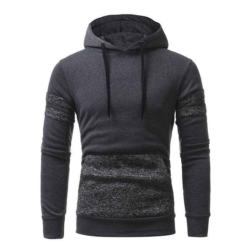 Latest Personalized Patch Design Men's Casual Slim Hooded Pullover Sweater