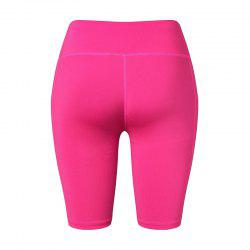 Women's Yoga Fitness Running Elastic Skinny Sweating Shorts -