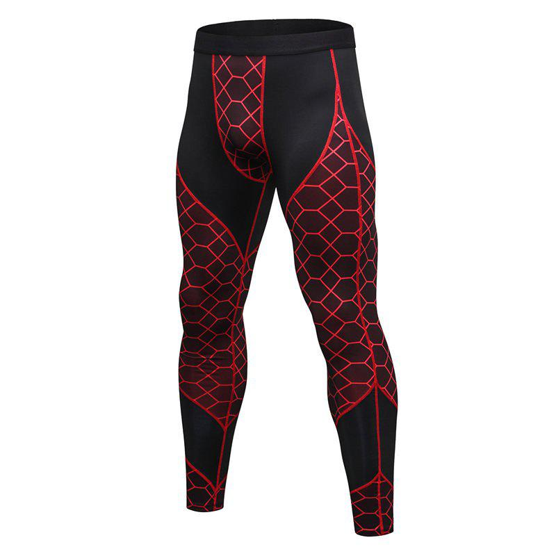 Fancy Men's Fitness Printing Sports Running Wicking Quick-drying Pants