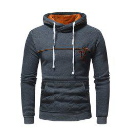 Men's Fashion Letters Embroidered Long-Sleeved Color Hat Casual Sweatshirt -