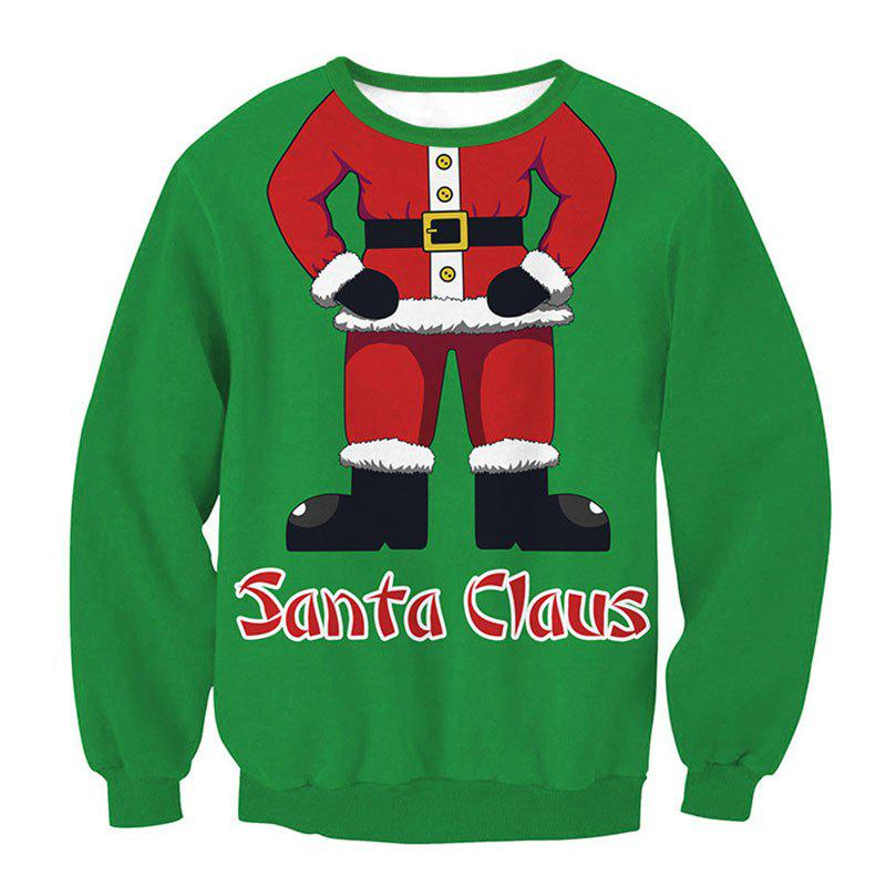 Outfits Santa Claus Printing Pullover Fleece