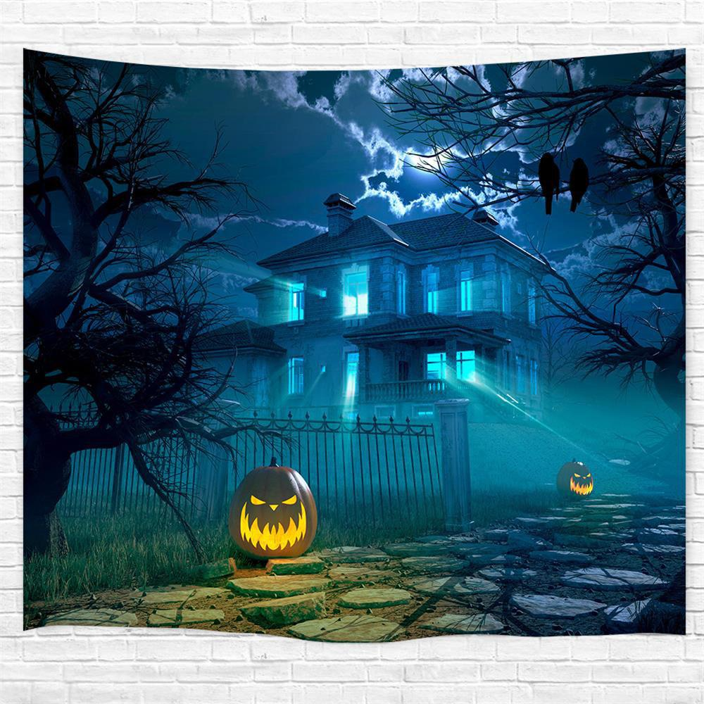 Outfit The Courtyard Pumpkin 3D Printing Home Wall Hanging Tapestry for Decoration