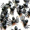 20pcs Black Spider Halloween Decoration Festival Supplies Funny Prank Toys -