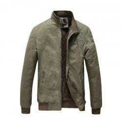 Men Plus Size Casual Jacket Fashion All Match Military Style Stand Collar -