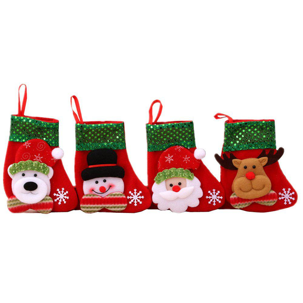 Online Christmas Stockings Treat Bag Gift for Favors and Decorating 4PCS