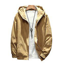 Men's Hooded Solid Color Jacket -