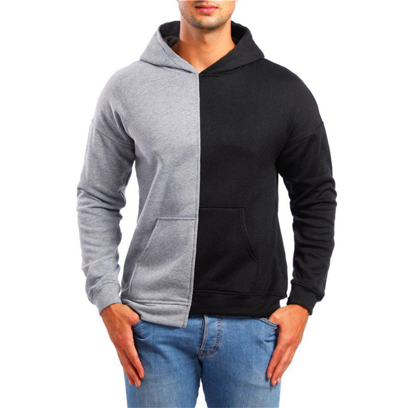 Discount Casual Asymmetrical Men Hooded Sweater