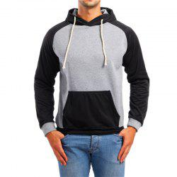 Fashion Sports Color Matching Hooded Sweater -