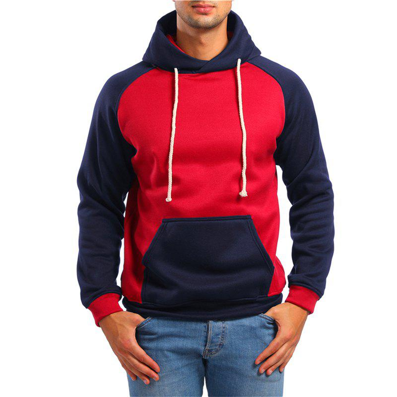 New Fashion Sports Color Matching Hooded Sweater