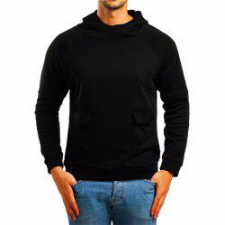 Men's Double Pocket Hooded Pullover Sweater -