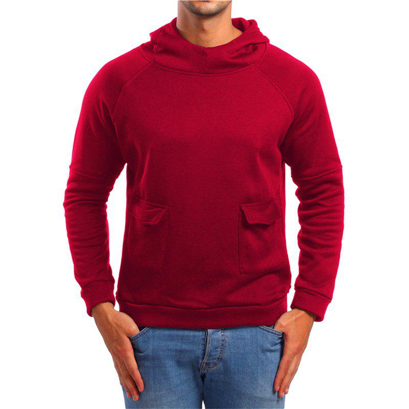 Best Men's Double Pocket Hooded Pullover Sweater