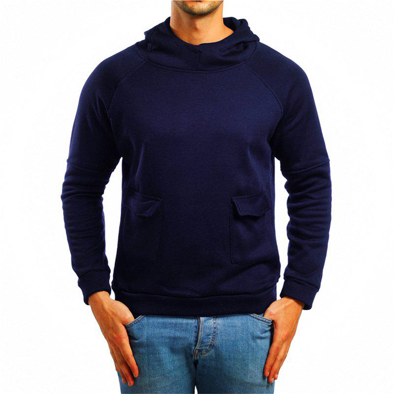 Affordable Men's Double Pocket Hooded Pullover Sweater