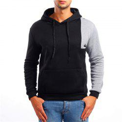Fashion Simple Color Matching Men Hoodies Sweater -