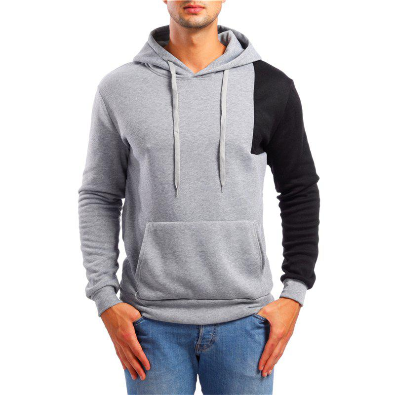 Shop Fashion Simple Color Matching Men Hoodies Sweater
