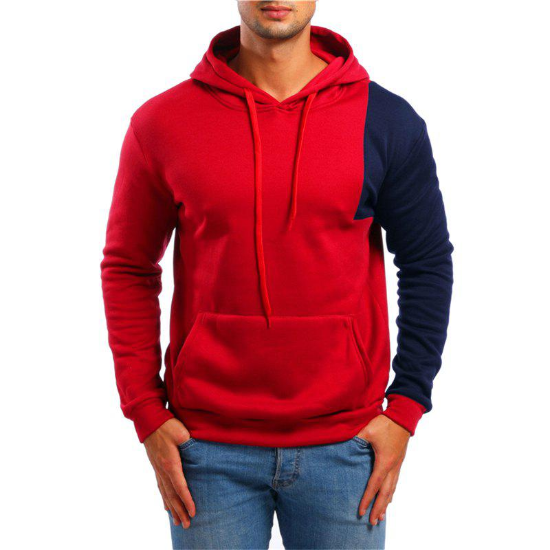Chic Fashion Simple Color Matching Men Hoodies Sweater