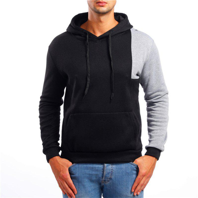 Hot Fashion Simple Color Matching Men Hoodies Sweater