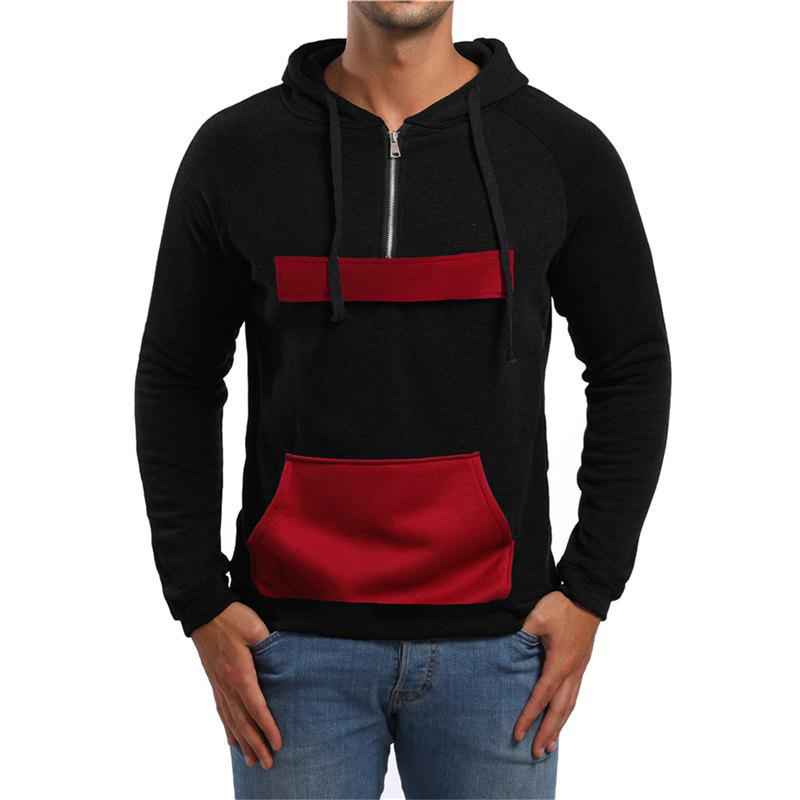 Affordable Men's Fashion Simple Sports Hooded Pocket Sweater