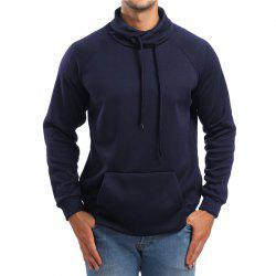 Men's High Collar Solid Color Sports Hoodies Sweater -