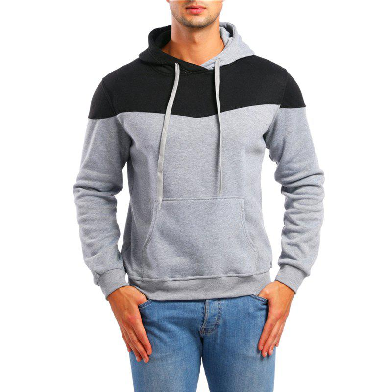 Cheap Men's Leisure Sports Color Matching Pullover Sweater