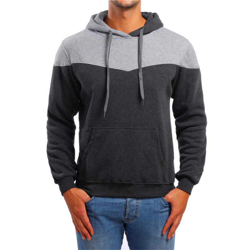 Outfit Men's Leisure Sports Color Matching Pullover Sweater