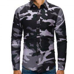 Men's Fashion Camouflage Long Sleeved Casual Shirts -