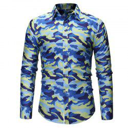 Men's Fashion Camouflage Long Sleeved Shirt -