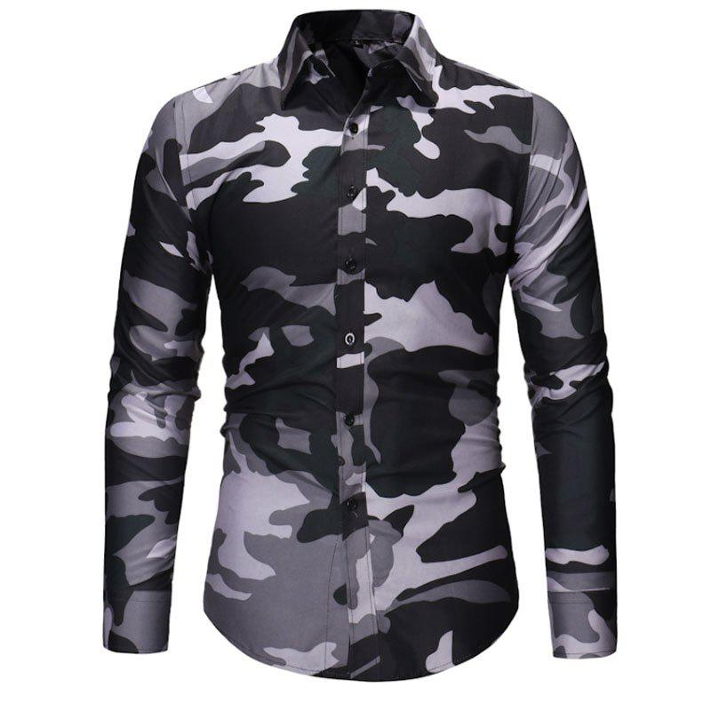 Best Men's Fashion Camouflage Long Sleeved Shirt