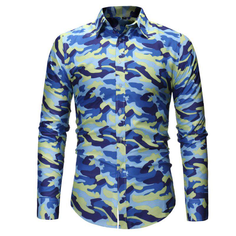 Cheap Men's Fashion Camouflage Long Sleeved Shirt