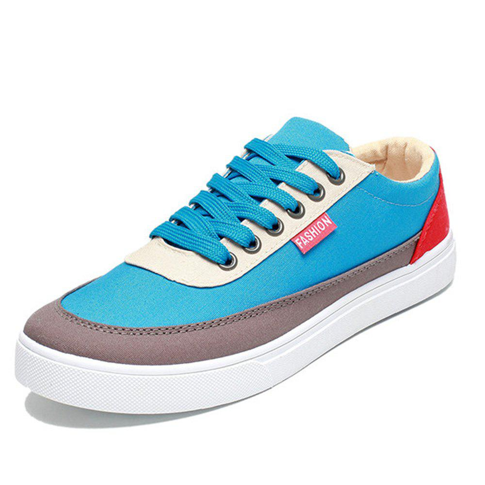 Fancy Men's Trend Sports Go with Casual Canvas Shoes Breathable