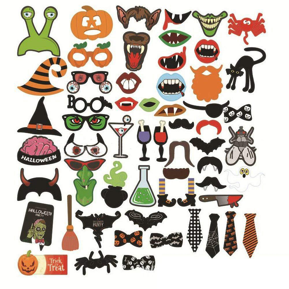 Fashion 59 Pieces Halloween Party Decoration Photo Prop