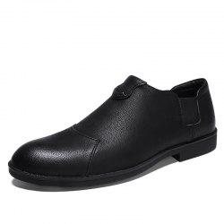 Men'S Trend Flat Bottom Breathable Casual Leather Small Shoes -