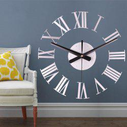 Modern Contemporary Acrylic Round Novelty Indoor AA Wall Clock -