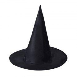 Black Halloween Christmas Spire Magic Hat -