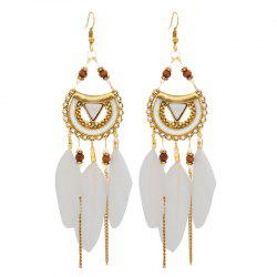 Retro Feathered Feather Earrings -
