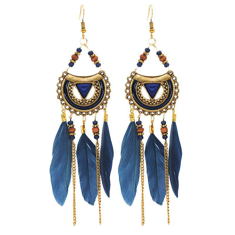 Shops Retro Feathered Feather Earrings