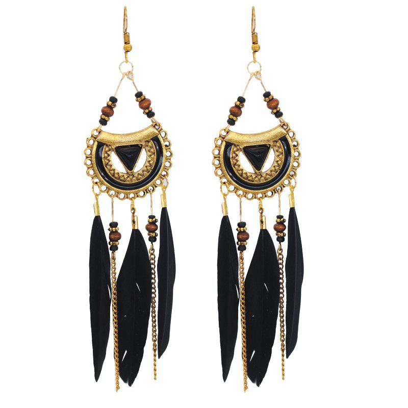 Unique Retro Feathered Feather Earrings