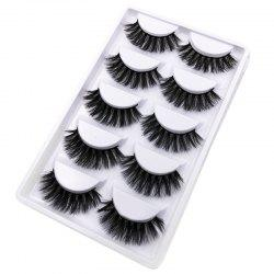5Pairs Handmade Natural  False Eyelashes Makeup Tools -