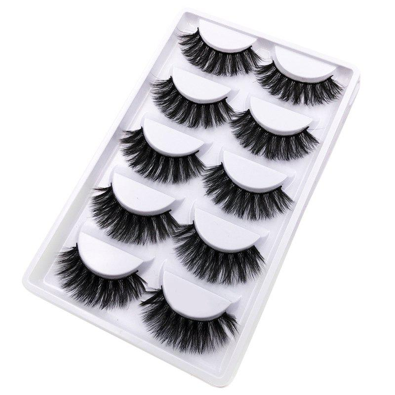 Unique 5Pairs Handmade Natural  False Eyelashes Makeup Tools
