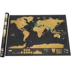 Deluxe Scratch Off World Map Poster Journal Log Giant Of The Gift -