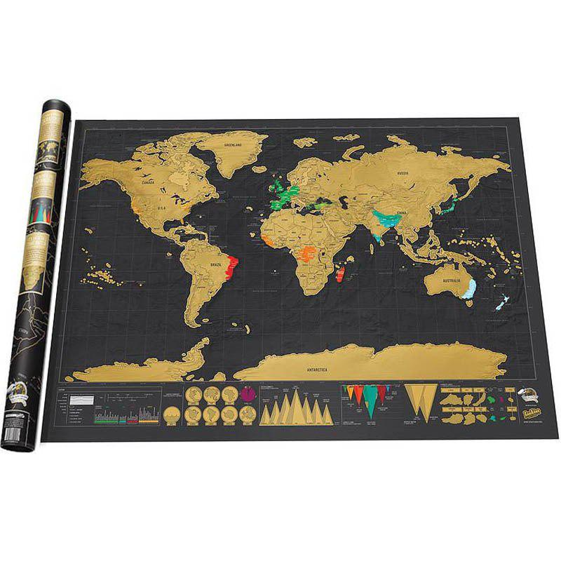 Unique Deluxe Scratch Off World Map Poster Journal Log Giant Of The Gift