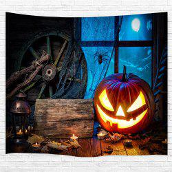 Wooden Wheel Spider Pumpkin 3D Printing Home Wall Hanging Tapestry for Decoratin -