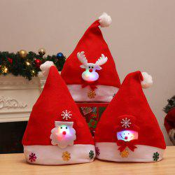 3PCS Holiday Inspirational Textile Hats for Christmas Party -