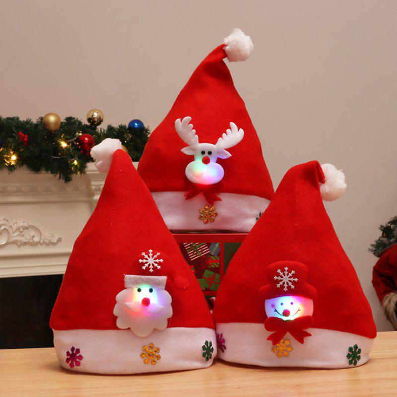 Shops 3PCS Holiday Inspirational Textile Hats for Christmas Party