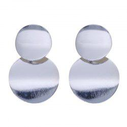 Drop Round Metal Design Vintage Simple Earrings Accessory -