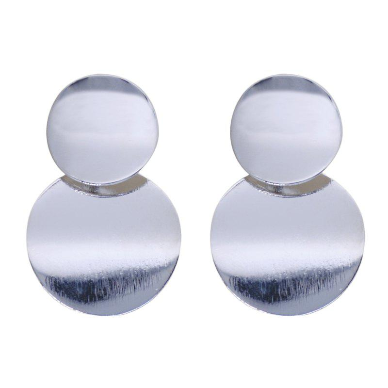 Fashion Drop Round Metal Design Vintage Simple Earrings Accessory